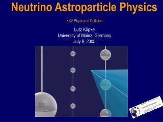 Neutrino Astroparticle Physics
