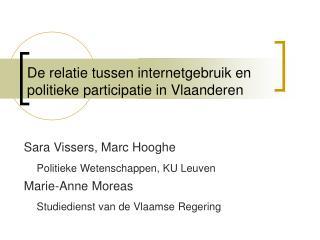 De relatie tussen internetgebruik en politieke participatie in Vlaanderen