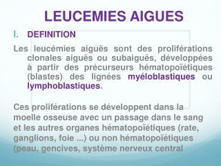 LEUCEMIES AIGUES