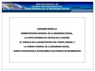 GESTION DIGITAL DE   CAUSAS PREVISIONALES DEL FUERO FEDERAL DE LA SEGURIDAD SOCIAL