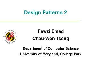 Design Patterns 2
