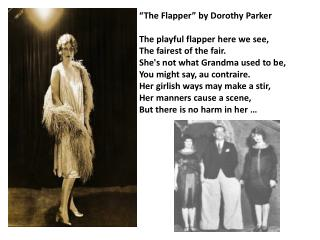 """The Flapper"" by Dorothy Parker"