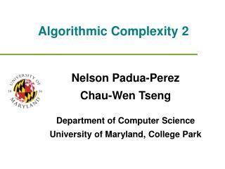 Algorithmic Complexity 2