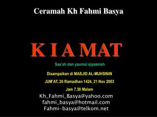 Ceramah Kh Fahmi Basya