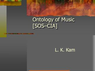 Ontology of Music [SOS–CIA]