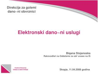 Skopje, 11.04.2008 godina