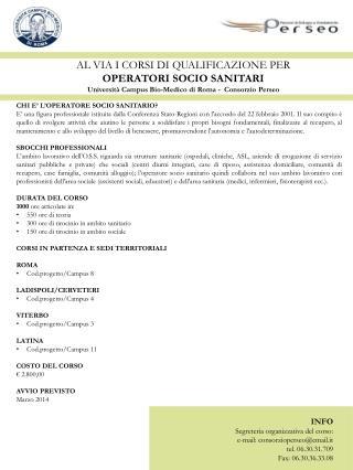 CHI E� L�OPERATORE SOCIO SANITARIO?