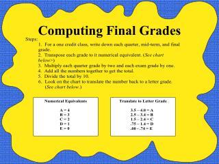 Computing Final Grades