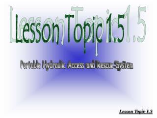 Lesson Topic 1.5