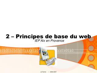 2 – Principes de base du web