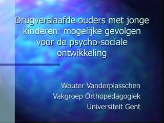 Drugverslaafde ouders met jonge kinderen: mogelijke gevolgen voor de psycho-sociale ontwikkeling