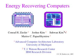 Energy Recovering Computers