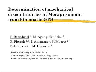 Determination of mechanical discontinuities at Merapi summit from kinematic GPS