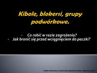Kibole, blokersi, grupy podwórkowe.