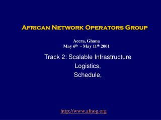 African Network Operators Group