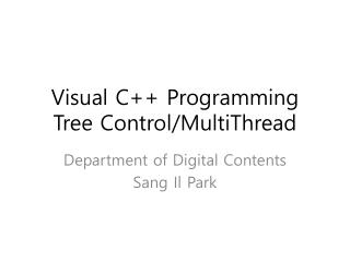 Visual C++ Programming Tree Control/MultiThread