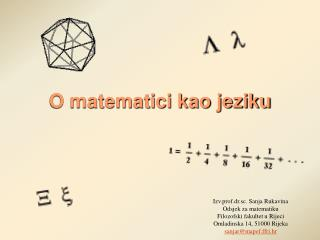 O matematici kao jeziku
