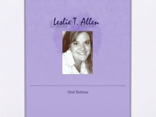 Leslie T. Allen