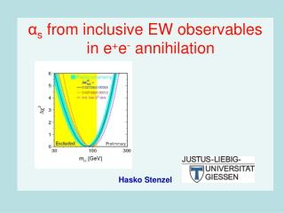 α s  from inclusive EW observables in e + e -  annihilation Hasko Stenzel