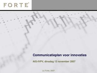 Communicatieplan voor innovaties