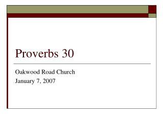 Proverbs 30