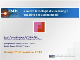 Le nuove tecnologie di e-Learning e l'usabilità dei sistemi mobili