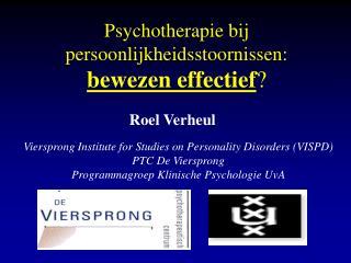 Psychotherapie bij persoonlijkheidsstoornissen: bewezen effectief ?