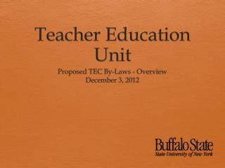 Teacher Education Unit