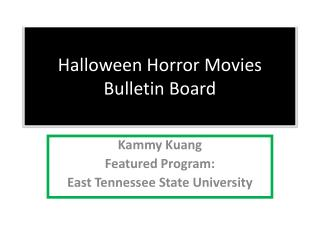 Halloween Horror Movies  Bulletin Board