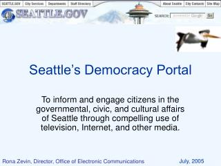 Seattle�s Democracy Portal
