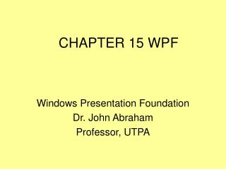 CHAPTER 15 WPF