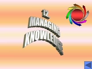 12. MANAGING KNOWLEDGE