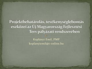 Koplányi Emil, PMP koplanyiemil @ t-online.hu