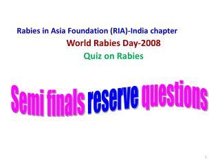 Semi finals  reserve  questions
