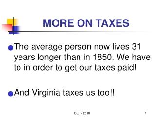 LTC Tax Issues