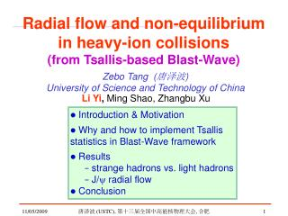 Radial flow and non-equilibrium  in heavy-ion collisions  (from Tsallis-based Blast-Wave)
