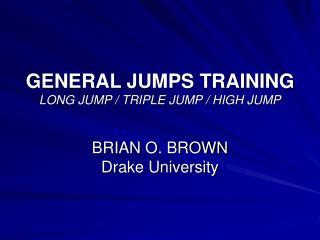 GENERAL JUMPS TRAINING LONG JUMP
