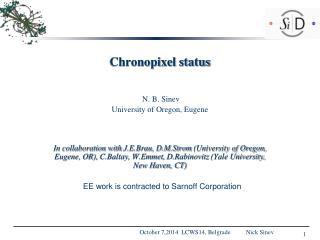 Chronopixel  status