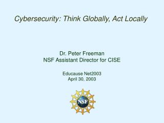 Cybersecurity: Think Globally, Act Locally