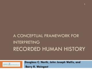 A Conceptual Framework for Interpreting Recorded Human History