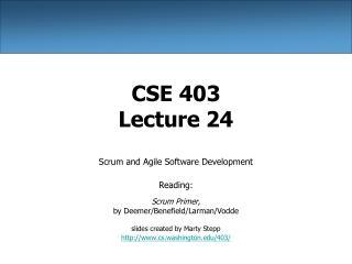 CSE 403 Lecture 24