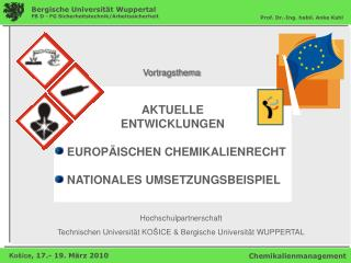 Hochschulpartnerschaft   Technischen Universit t KO ICE  Bergische Universit t WUPPERTAL
