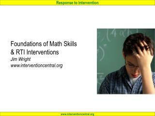 Foundations of Math Skills  RTI Interventions Jim Wright interventioncentral