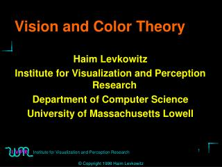 Vision and Color Theory