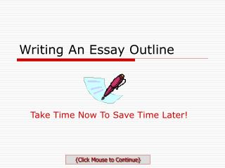 Writing An Essay Outline