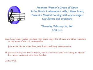 Charity dinner flyer