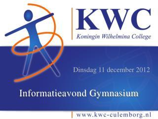 Informatieavond Gymnasium