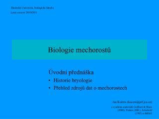 Biologie mechorostů