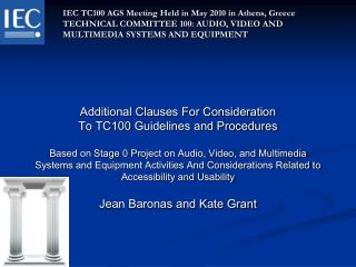 IEC TC100 AGS Meeting Held in May 2010 in Athens, Greece
