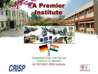 A Premier Institute in  Advanced Technology Areas
